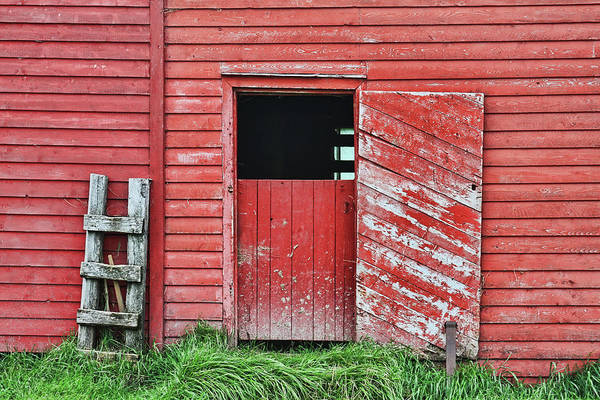 Gros Morne Photograph - Red Barn Door by Tatiana Travelways
