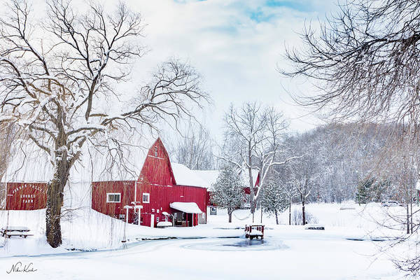 Photograph - Red Barn by Framing Places