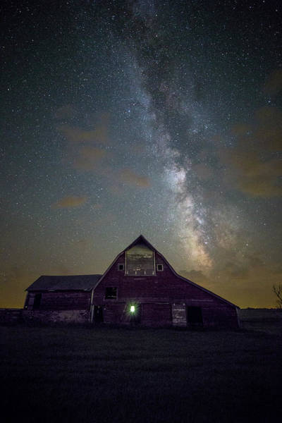 Photograph - Red Barn Galaxy  by Aaron J Groen
