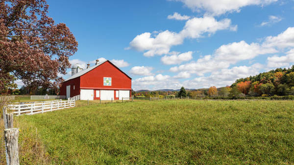 Photograph - Red Barn In Green Bank by M C Hood