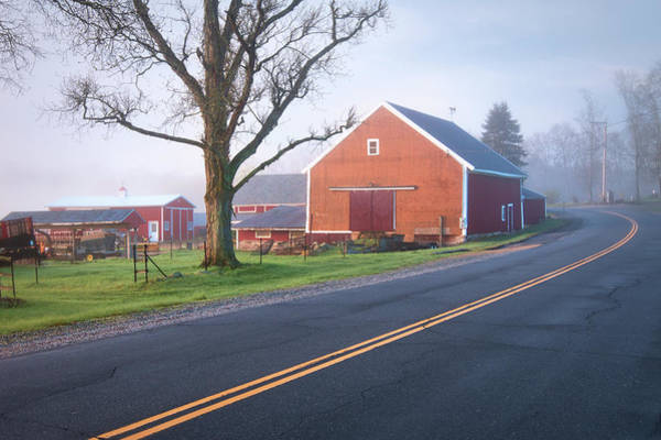 Wall Art - Photograph - Red Barn In Lee Nh by Eric Gendron