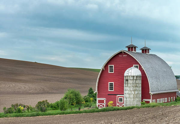 Photograph - Red Barn In Palouse. by Usha Peddamatham