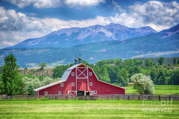 Wall Art - Photograph - Red Barn In Paonia Colorado by Priscilla Burgers