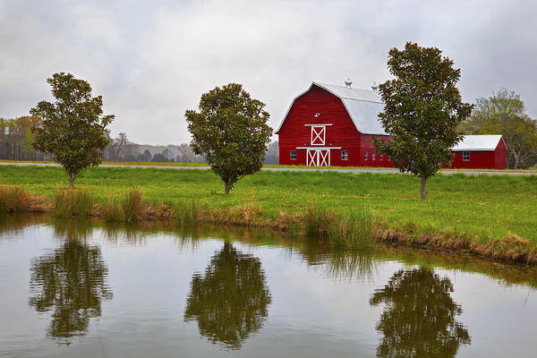 Rood Wall Art - Photograph - Red Barn In Spring by Amy Jackson