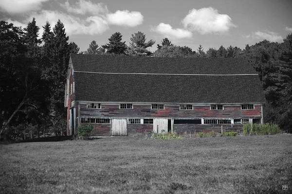 Photograph - Red Barn In The Sheepscot Valley by John Meader