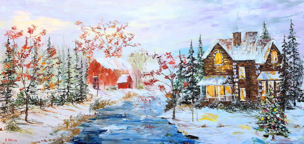 Painting - Red Barn by Kevin Brown