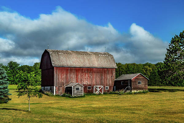 Photograph - Red Barn Near Moose Jaw Junction by Bill Gallagher