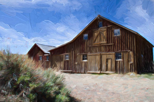 Bodie Ghost Town Wall Art - Photograph - Red Barn Of Bodie by Lana Trussell