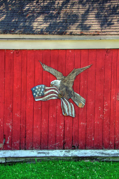 Photograph - Red Barn Patriotic Scene by Joann Vitali