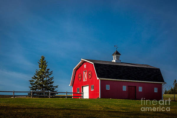 Photograph - Red Barn by Roger Monahan