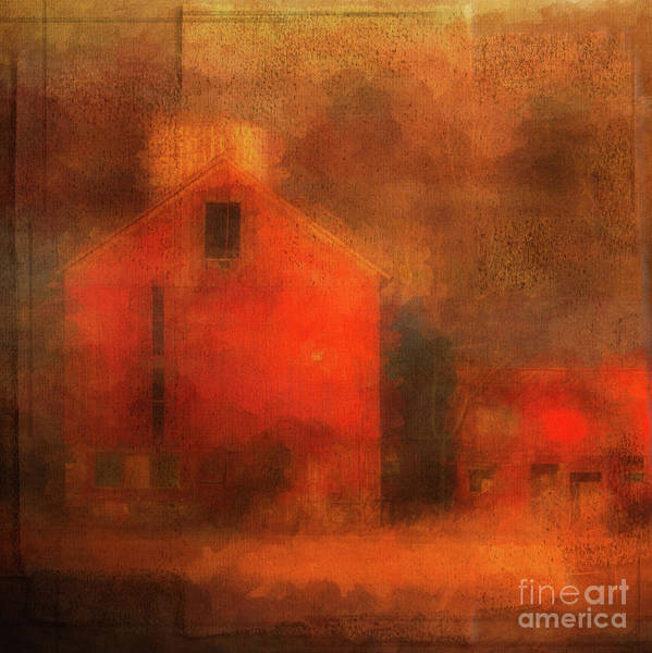 Photograph - Red Barn Square by Eleanor Abramson