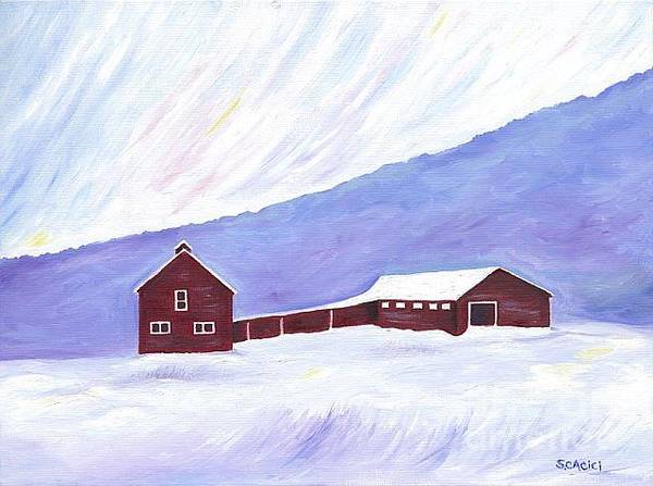 Adirondack Mountains Painting - Red Barn by Susan Cacici
