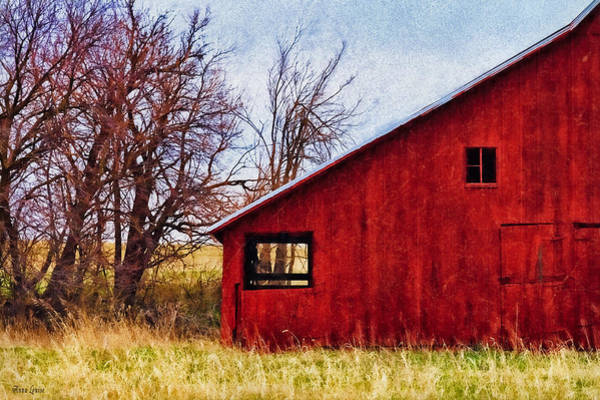 Photograph - Red Barn Window View by Anna Louise
