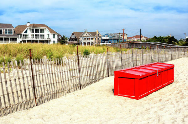 Photograph - Red Beach Locker On Cape May Beach 2008 by John Rizzuto