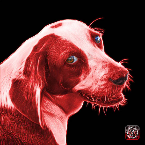 Painting - Red Beagle Dog Art- 6896 - Bb by James Ahn