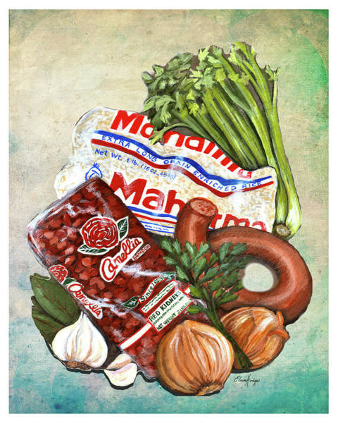 Wall Art - Painting - Red Beans And Rice Monday Tradition by Elaine Hodges