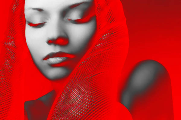 Wall Art - Digital Art - Red Beauty  by Naxart Studio