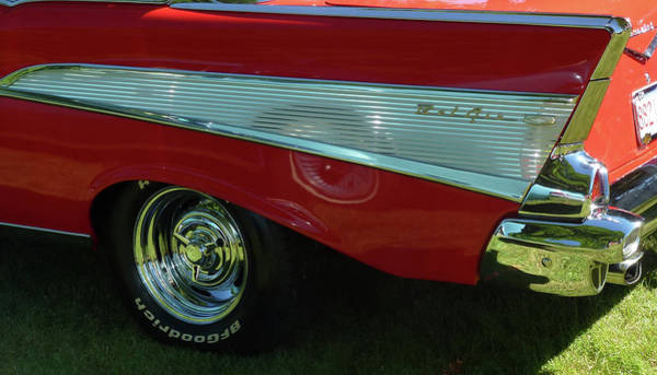 Photograph - Red Bel Air Convertible by Barbara Jacobs