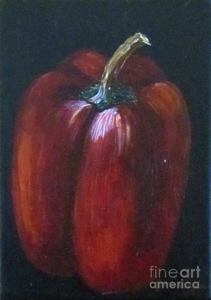 Painting - Red Bell Pepper by Jeanie Watson