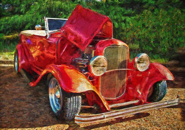 The Red Bell Roadster Art Print