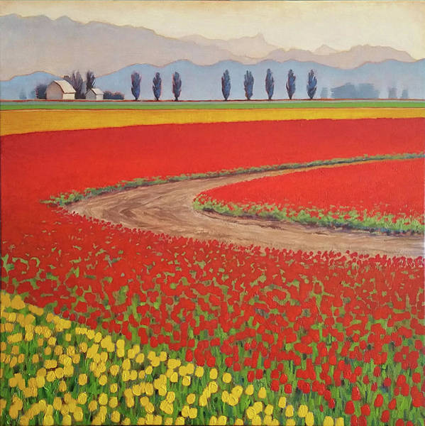 Skagit Valley Painting - Red Bend Road by Jennifer Ann McGill