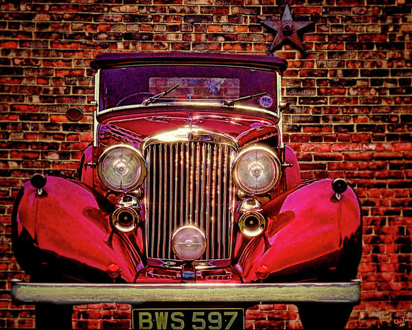 Photograph - Red Bentley Convertible by Chris Lord