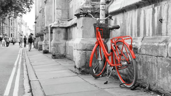Photograph - Red Bicycle On The Street by Jacek Wojnarowski