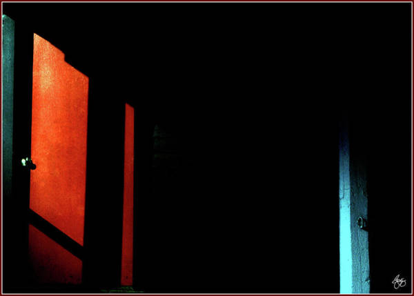 Photograph - Red Black And Blue In Shadows by Wayne King