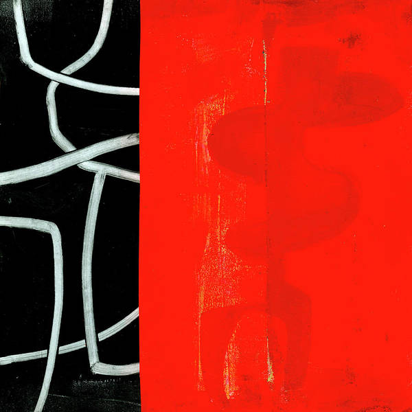 Wall Art - Painting - Red Black Print by Jane Davies