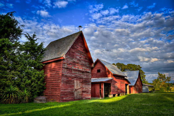 Photograph - Red Blue And Green Barns At Windsor Castle by Williams-Cairns Photography LLC