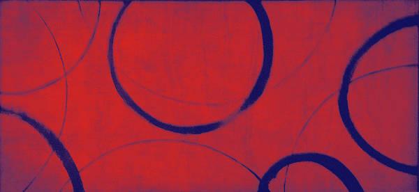 Wall Art - Painting - Red Blue Ensos by Julie Niemela