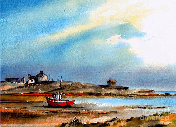 Painting - Red Boat At Doonbeg, Clare by Val Byrne
