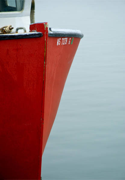 Photograph - Red Fishing Boat by Charles Harden
