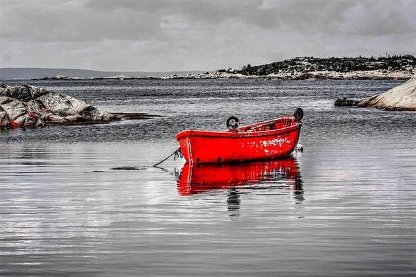 Photograph - Red Boat  by David Matthews