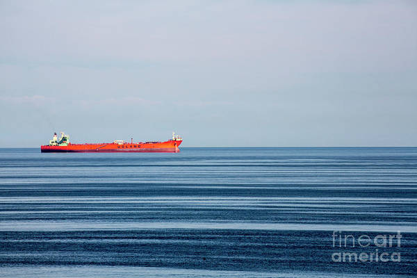 Wall Art - Photograph - Red Boat In Calm Baltic Sea by Sheila Smart Fine Art Photography