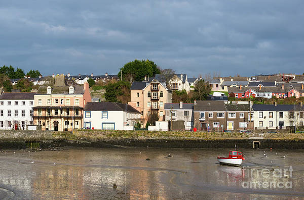 Photograph - Red Boat In Kinsale by Les Palenik