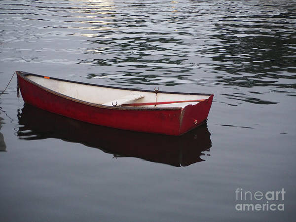 Photograph - Red Boat by Robin Zygelman