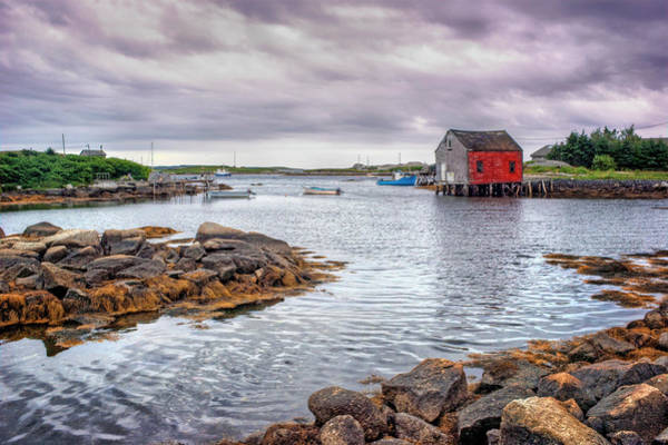 Wall Art - Photograph - Red Boathouse - Nova Scotia - Canada by Nikolyn McDonald