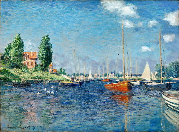 Wall Art - Painting - Red Boats, Argenteuil 1875 by Claude Monet