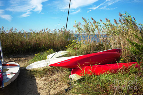 Wall Art - Photograph - Red Boats On The Beach At Long Beach Island by John Rizzuto