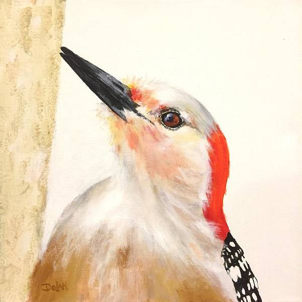Painting - Red Breasted Woodpecker by Pat Dolan