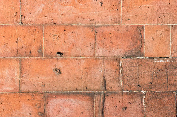 Wall Art - Photograph - Red Brick Background by Tom Gowanlock