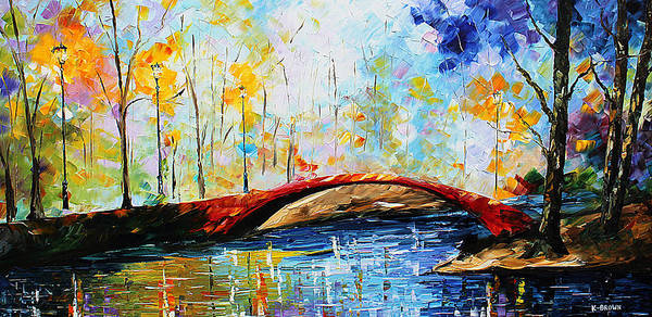 Painting - Red Bridge by Kevin Brown