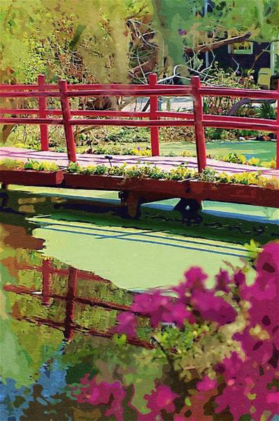 Photograph - Red Bridge2 by Donna Bentley