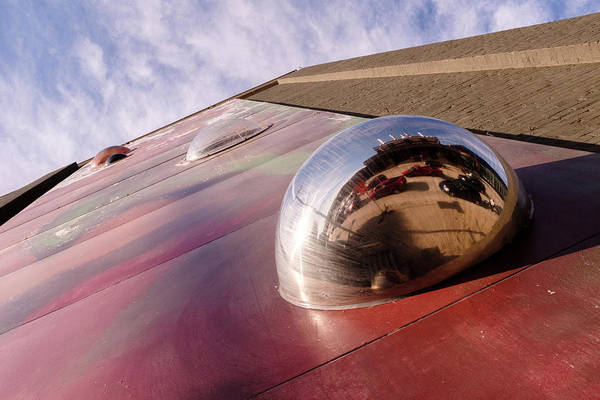 Red Bubble On A Downtown Wall Outside With Reds And Sky In Grand Rapids Michigan Art Print