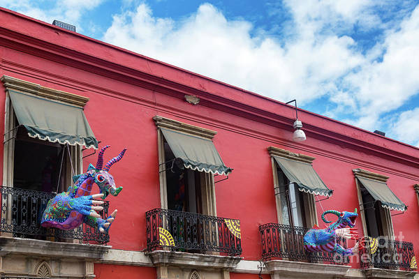 Wall Art - Photograph - Red Building And Alebrije by Jess Kraft