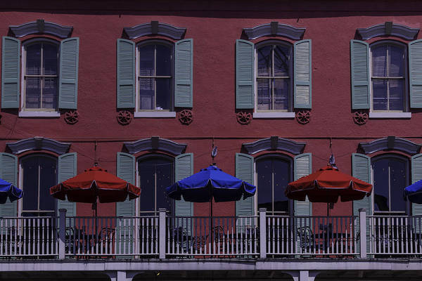 Nola Photograph - Red Building by Garry Gay