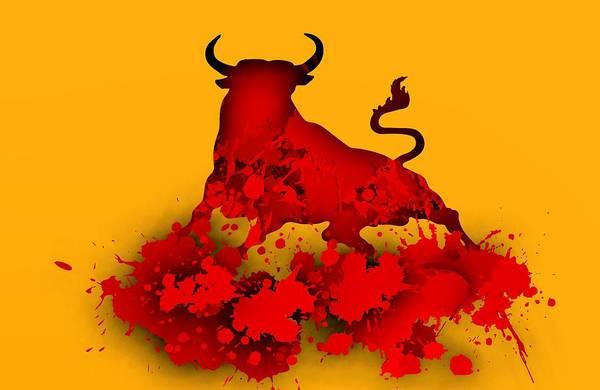 Digital Art - Red Bull.1 by Alberto RuiZ