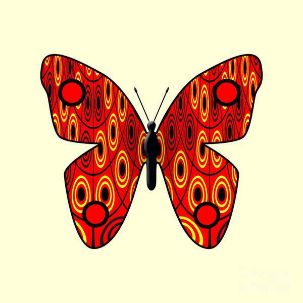 Wall Art - Digital Art - Red Butterfly by Gaspar Avila