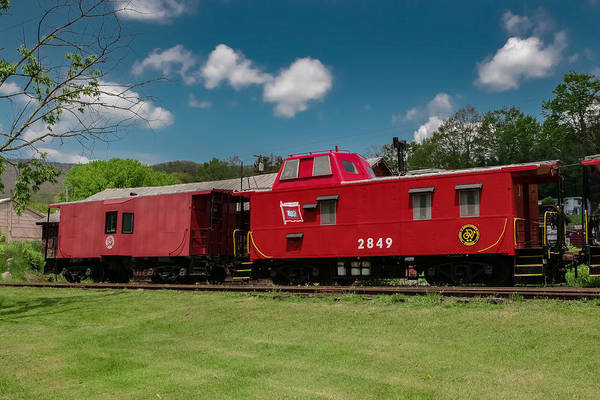 Photograph - Red Caboose by Mary Almond